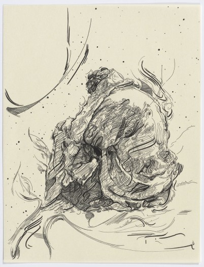 Glenn Brown, Drawing 15 (after Vouet), 2015