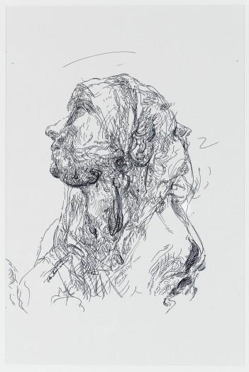Glenn Brown, Drawing 34 (after Batoni/Batoni), 2014
