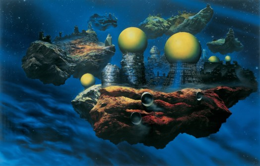 Glenn Brown, The Pornography of Death (Painting for Ian Curtis) copied from `Floating Cities' 1981 by Chris Foss, 1995