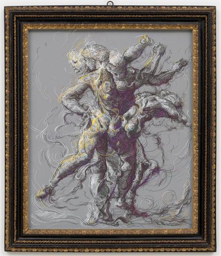 Glenn Brown, Drawing 2 (after Delacroix/Raphael), 2019