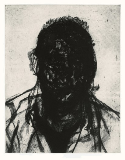 Glenn Brown, Layered Portrait (after Lucian Freud) 6, 2008