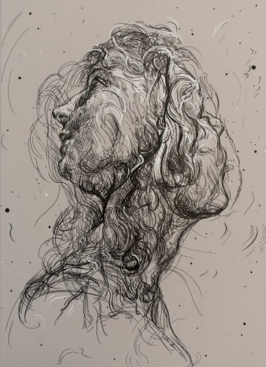 Drawing 12 (after Batoni/Del Sarto), 2017