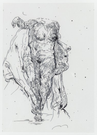 Glenn Brown, Drawing 35 (after Batoni/Delacroix), 2014