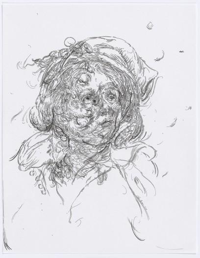 Glenn Brown, Drawing 25 (after Greuze/Jordaens), 2015