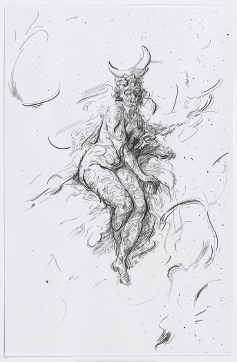 Glenn Brown, Drawing 18 (after Boucher), 2015