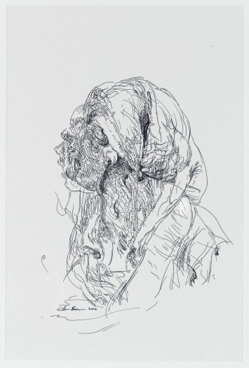 Glenn Brown, Drawing 33 (after Batoni/Batoni), 2014
