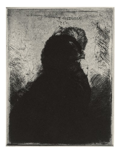 Glenn Brown, Layered Portraits (after Rembrandt) 4, 2008