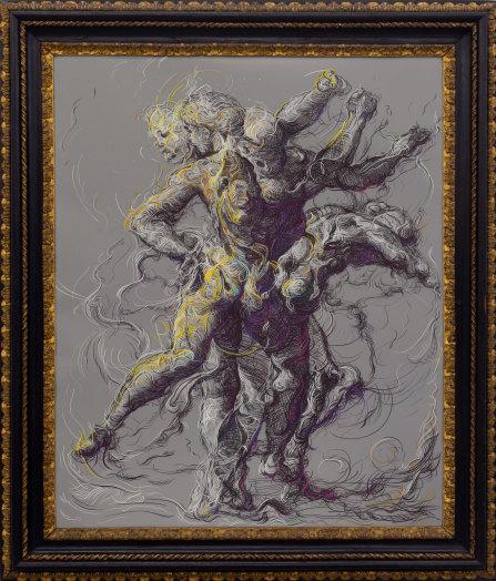 Drawing 2 (after Delacroix/Raphael), 2019