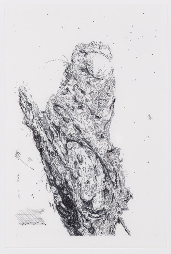 Glenn Brown, Drawing 4 (after Oudry), 2014