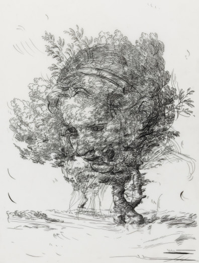 Drawing 6 (after De Gheyn II/Greuze), 2017