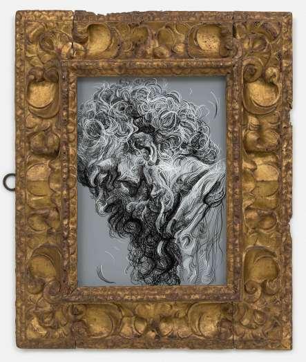 Glenn Brown, Drawing 1 (after Menzel), 2019