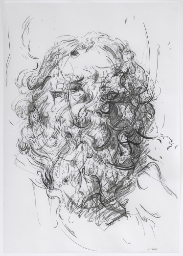 Glenn Brown, Drawing 31 (after Van Dyck), 2015