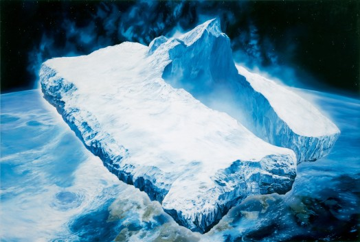 Glenn Brown, Exercise one (for Ian Curtis) (after 'Icebergs in Space' 1989 by Chris Foss), 1995
