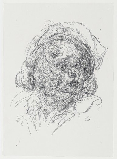 Glenn Brown, Drawing 40 (after Greuze/Jordaens), 2014