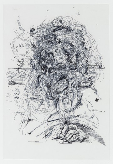 Glenn Brown, Drawing 26 (after Strozzi/Strozzi), 2013