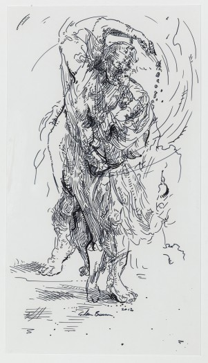 Glenn Brown, Drawing 26 (after Van Dyck/?), 2014