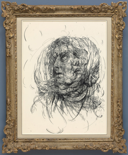 Glenn Brown, Drawing 7 (after Greuze/Greuze), 2016