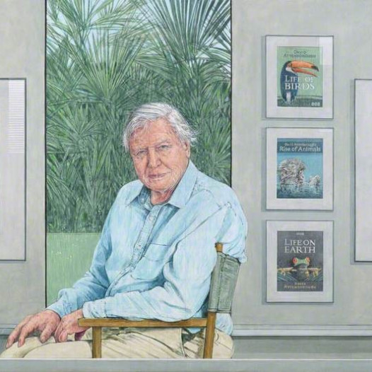 Bryan Organ portrait of Sir David Attenborough