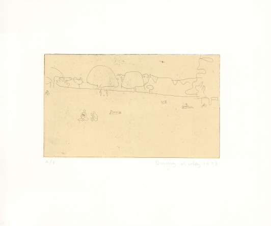 Park with Airplane and Sunbathers, 1998