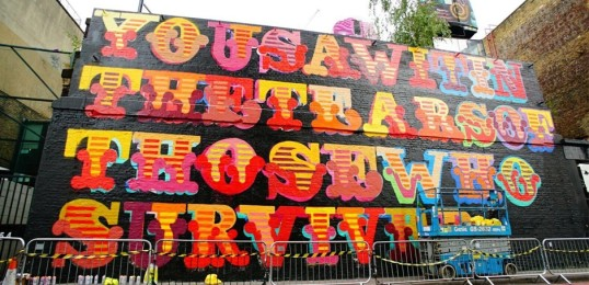Ben Eine Creates Mural to Honour Grenfell Tower Victims