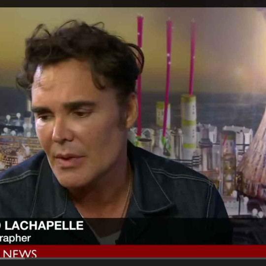 "David Lachapelle interviewed , by BBC ""Hardtalk"" at the London Gallery, talking about his work, inspiration and life"