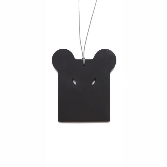 "Otto Künzli Blape Pendant, 2010 MDF, ""Faluner"" Black, Lace 9.5 x 8.5 x 0.4 cm Edition of 40"