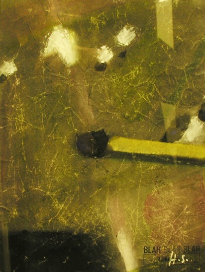 Hans Stofer To Strike, 2012 Gouache on Laser Printed Paper 30cm x 21cm