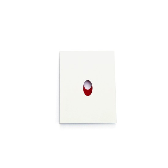 Otto Künzli Rotes Loch (Red Hole), 2006 Silver, Acrylic Paint, Stainless Steel 6 x 4.5 x 0.5 cm Edition of 8