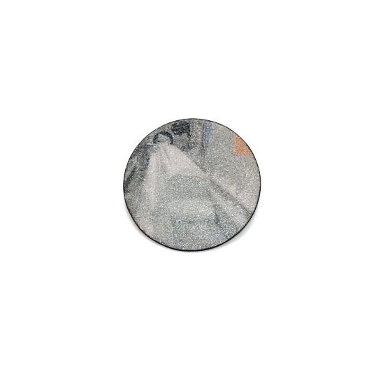 Kirsten Haydon Ice Process, 2014 Enamel, Photo Transfer, Reflector Beads, Silver, Copper, Steel 80 x 80 x 10mm