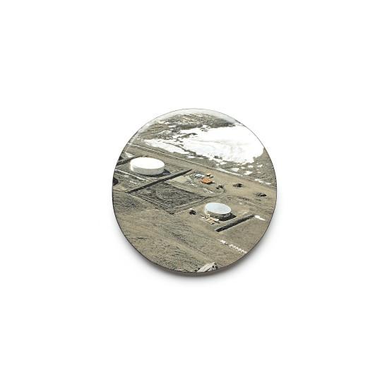 Kirsten Haydon Ice Depot, 2011 Enamel, Photo Transfer, Silver, Copper, Steel 80 x 80 x 10mm