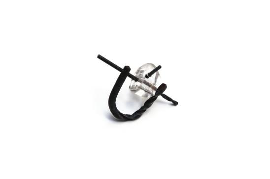 Bernhard Schobinger Cardan Joint Ring, 2013 Steel, Topaz