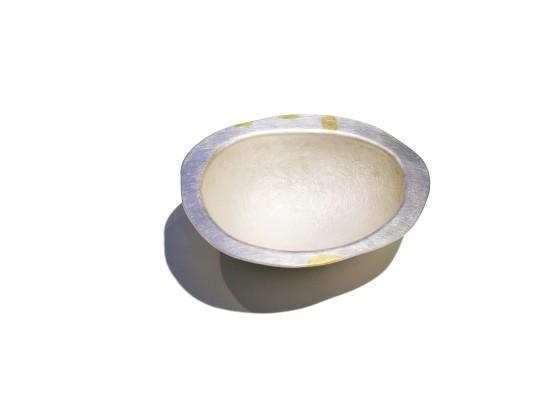 Simone ten Hompel Stone Bowl, 2015 Silver 999, Keum-Boo Gold 12.5 x 15.5 x 5.5cm