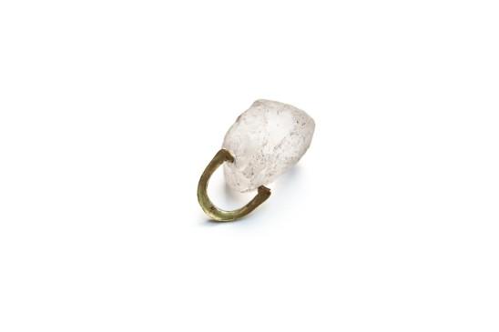 Bernhard Schobinger Findling Ring, 2013 Rock Crystal, Gold