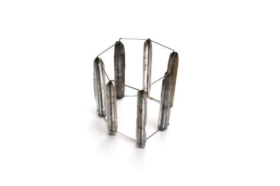 Bernhard Schobinger Pillars of Wisdom, 1994 Rock Crystal, Cobalite