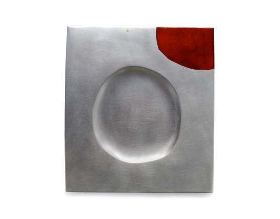 Simone ten Hompel Already Absent, 2014 Silver 925, Gold, Enamel 26.5 x 23.5 x 0.5cm