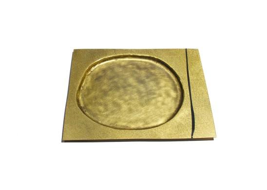 Simone ten Hompel Specimen Black, 2015 Brass, Silver 925 32.5 x 26.5 x 1cm