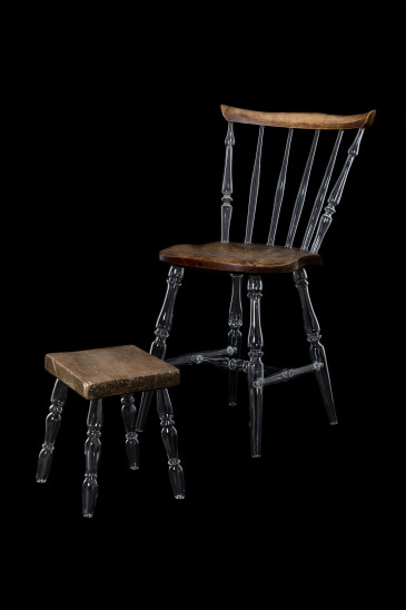 Caroline Broadhead, Chair with Glass Legs, 2019