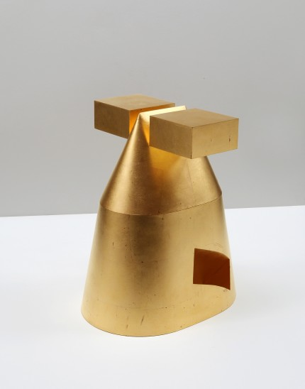 Michael Rowe Conditions of Ornament no.19, 1993 Lidded Container, Brass, Gold Leaf Finish