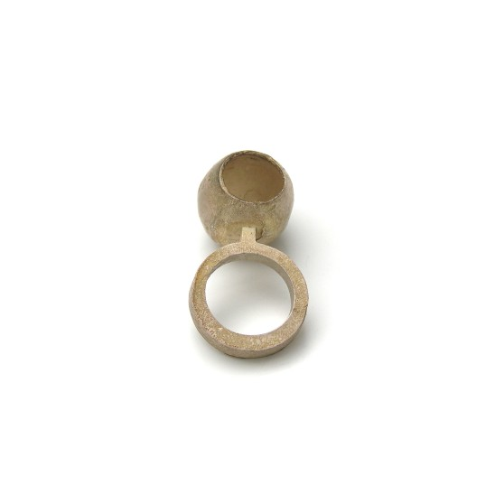 Rudolf Bott Ring, 1994 Silver Boiled 22 x 25 x 45 mm