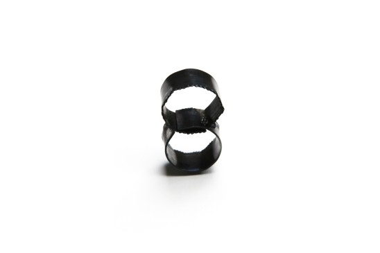 Bernhard Schobinger Watch Out Ring, 2012 Steel, Silver, White Gold, Sapphires