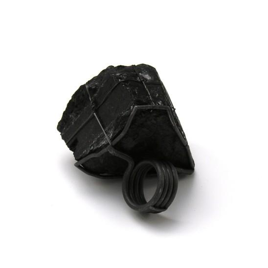 Hans Stofer, Black Diamond Ring, 2010