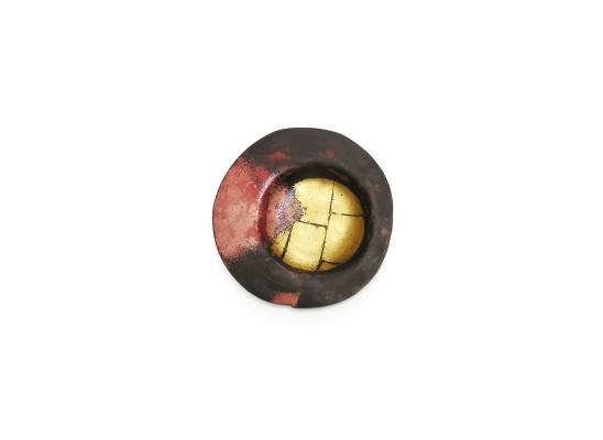Simone ten Hompel Speck series 5, 2015 Gilding Metal, Gold Leaf 11.5 x 11.5 x 1cm