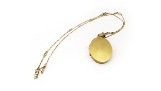 Lin Cheung, Secret - locked locket, 18ct gold