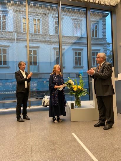 Annelies Štrba erhält den Willy-Reber-Kunstpreis