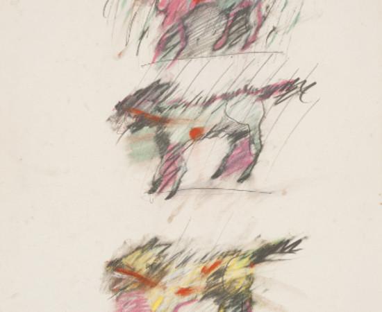 Rick Bartow, Coyote Trio, 1984