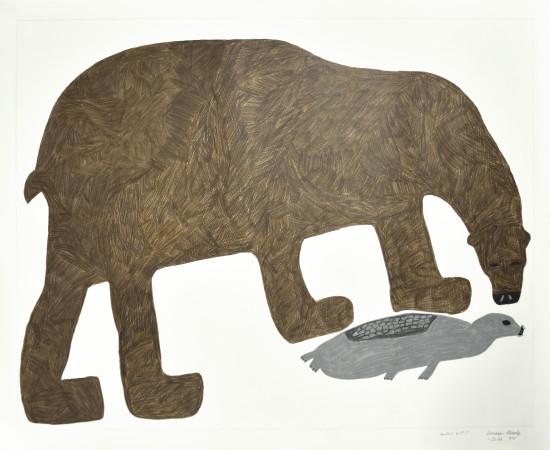 Saimaiyu Akesuk, Untitled (Bear and Seal), 2013