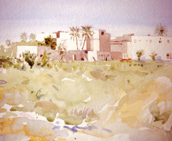 Rashid Al Khalifa, Bahraini Landscape, 1980