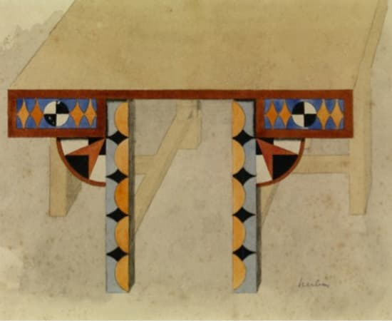 Auguste Herbin, Study for a table, 1920 - 1921