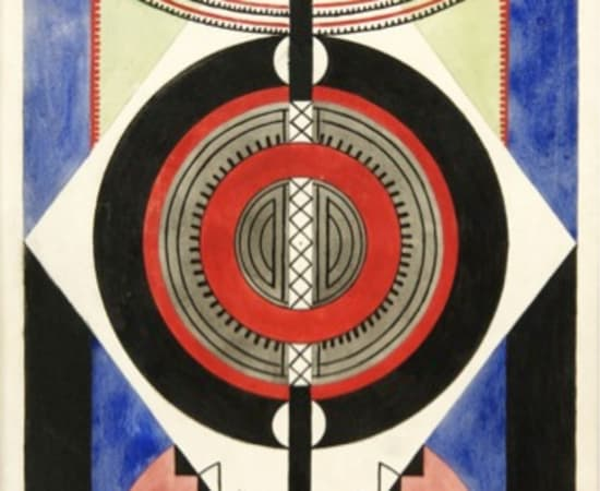 Auguste Herbin, Symmetrical Composition, 1920