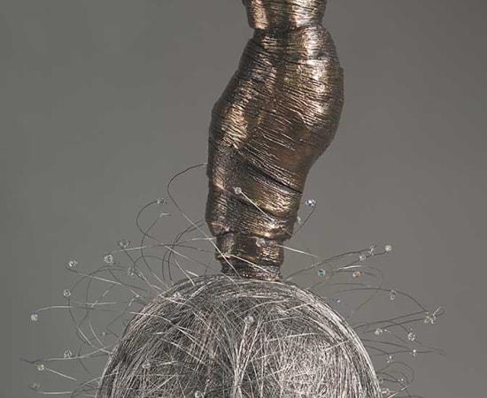 Estella Fransbergen, Bronze Torso with Wire Ball